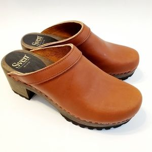 Nw SVEN by No. 6 Leather Clogs Rugged Sole 40/10